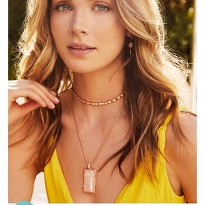Kendra Scott Edith Necklace in Rose Gold.. $125